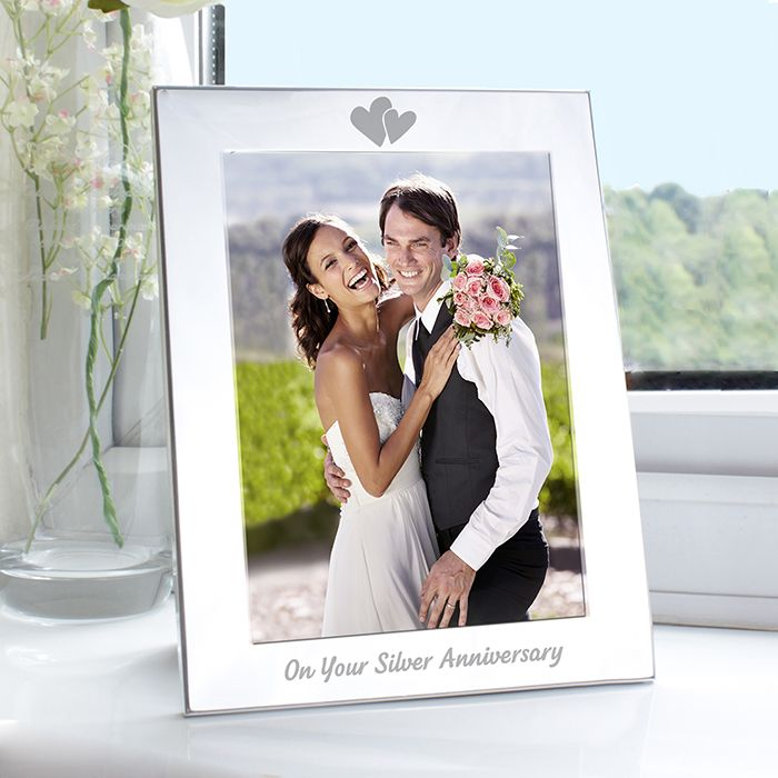 25th Silver Wedding Anniversary 5x7 Photo Frame Personalised Gifts