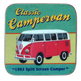Martin Wiscombe Retro VW Campervan Single Coaster