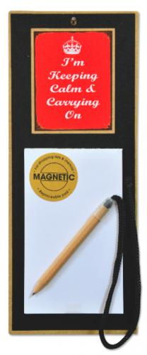 Martin Wiscombe Vintage Keeping Calm Magnetic Notepad