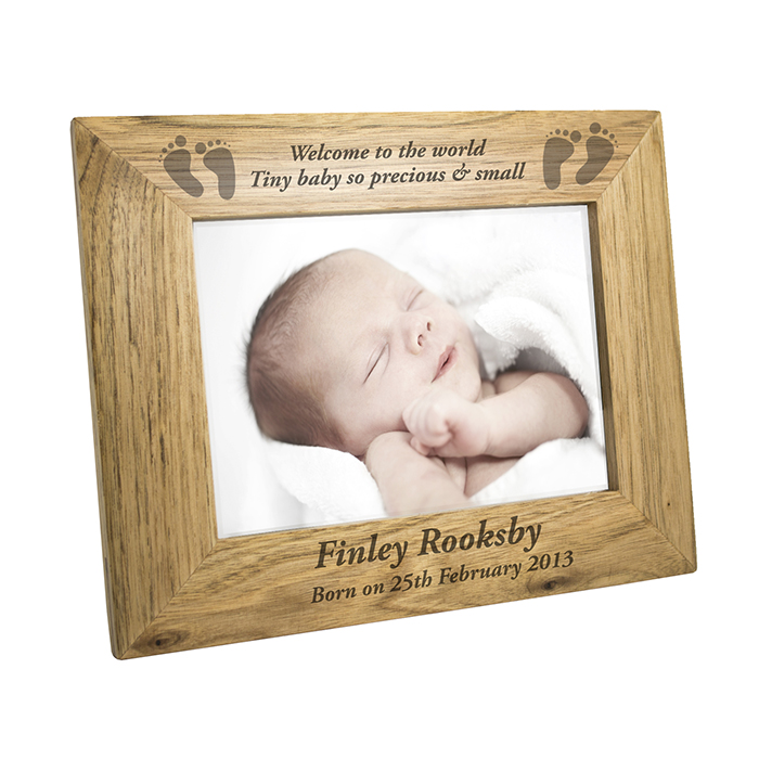 Personalised Baby Wooden Photo Frame | Personalised Gifts | Baby ...