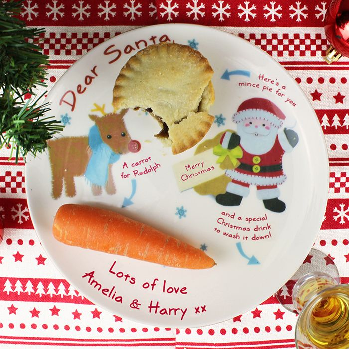 Personalised Dear Santa Christmas Mince Pie Plate | Personalised Christmas Gifts | The Present Season  sc 1 st  The Present Season & Personalised Dear Santa Christmas Mince Pie Plate | Personalised ...