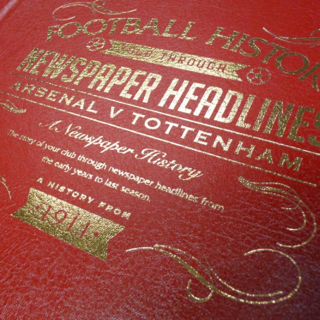 Personalised Leather Football Books - Pick Your Team | Personalised Sport Gifts | The Present Season