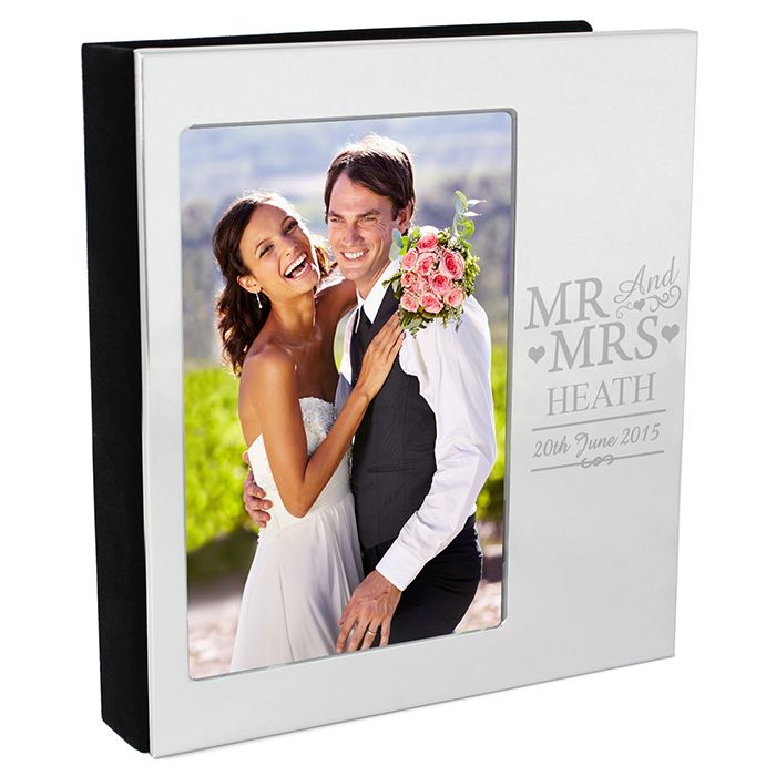 Personalised Mr Mrs Photo Frame Album Personalised Gifts The