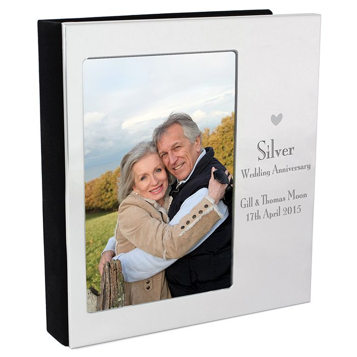 Personalised Silver Wedding Anniversary Photo Album Personalised